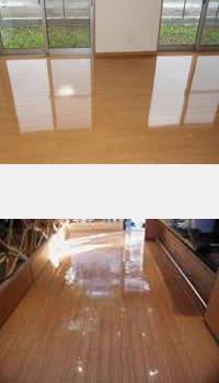 床材のコーティング